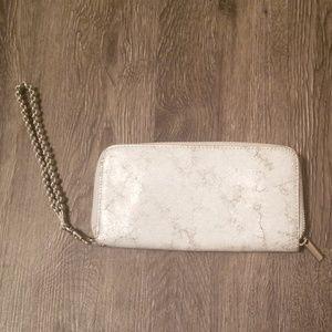 Silver grey wristlet/wallet